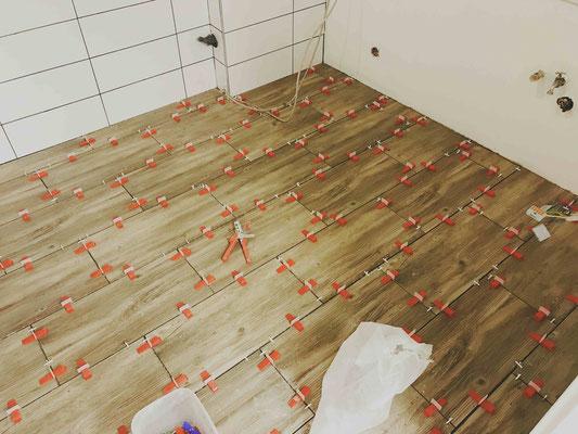 Fußboden im Desinfektionsraum