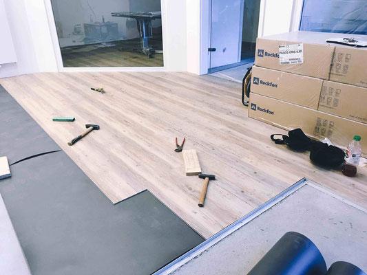 Fußboden im Labor