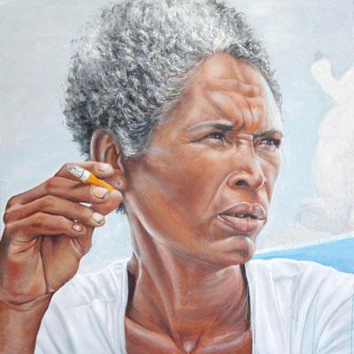 """""""Charlotte"""" Acrylique sur toile, 1m50 x 1m50, 2012"""