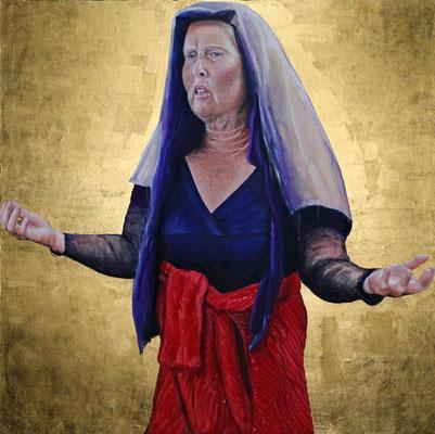 """""""Elyse"""" Acrylique sur toile, 1m40 x 1m50, 2012"""
