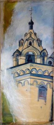 L'Eglise Jaune, 110 x 270 cm, huile sur toile