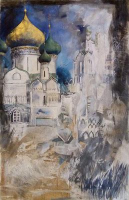 Les Cendres de Souzdal, 140 x 210 cm, technique mixte sur toile