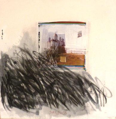 Songe, technique mixte sur toile, 50 x 50 cm