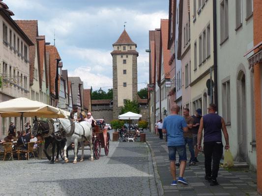 Pferdekutsche vor dem Würzburger Tor