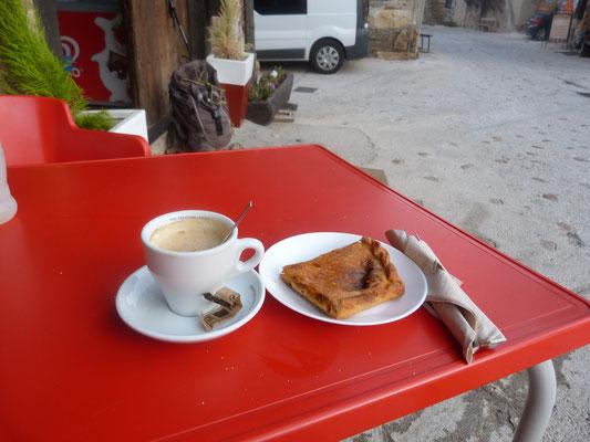 Frühstück für den Pilger