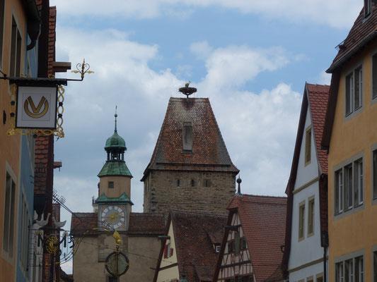 Storchennest auf dem Markusturm
