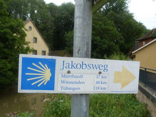 nur noch knapp 19 km bis zur Unterkunft