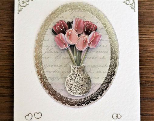 Hochzeitskarte zur Silberhochzeit