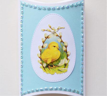 Pillowbox Ostern weiß-hellblau