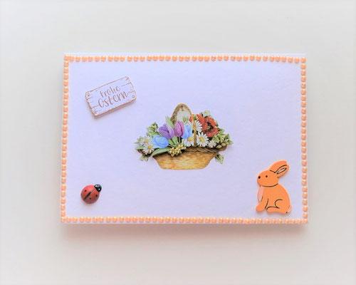 Handgefertigtes Kuvert für Geld oder Gutschein zu Ostern