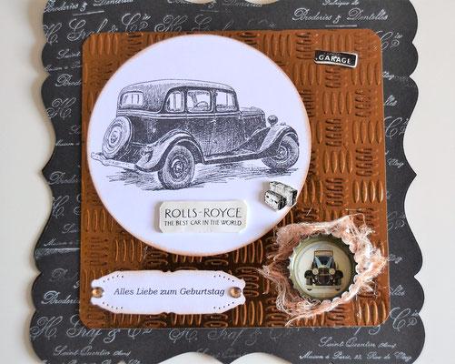 Männerkarte Rolls-Royce, Alles Liebe zum Geburtstag