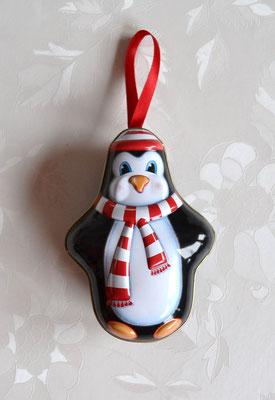 Weihnachtsaufhänger Pinguin zum öffnen.