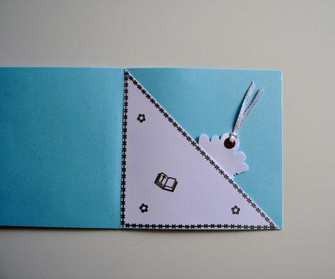Glückwunschkarte zur Firmung hellblau-weiß