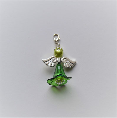 Perlenengel/Engelanhänger grün-klar