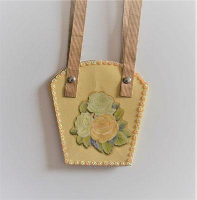 Pflanzen-Tasche klein hellgelb