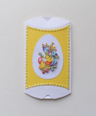 Pillowbox Ostern weiß-gelb