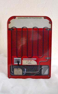 Nostalgiedose Kühlschrank rot Rückseite
