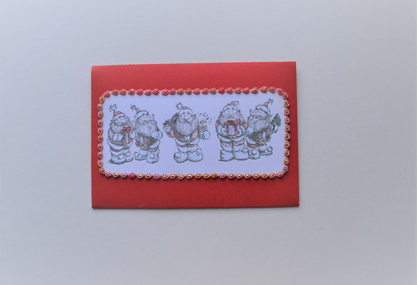 Kuvert für Geldgeschenke vom Nikolaus