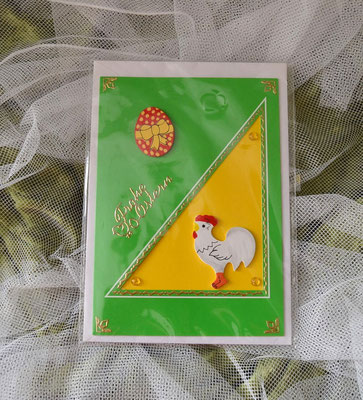 Handgefertigte Osterkarte