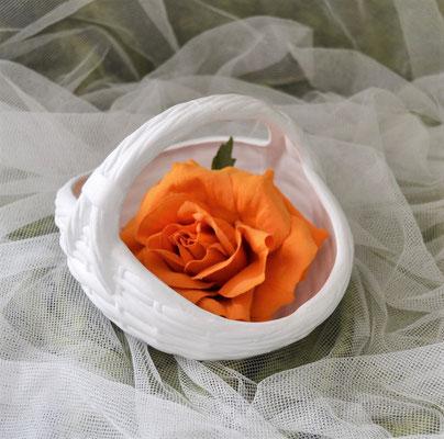 Keramikkorb weiß