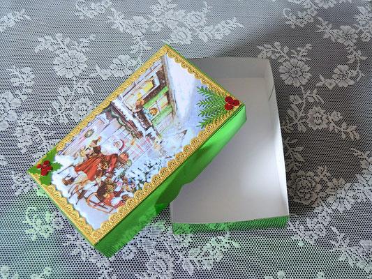 """Weihnachtsbox """"Nikolaus mit Schlitten"""""""