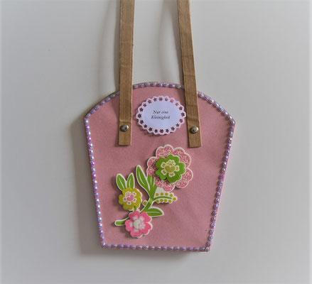 Pflanzentasche groß rosa