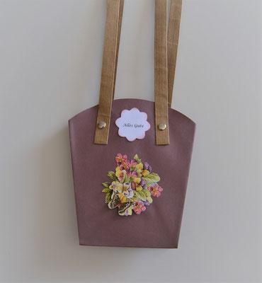 Pflanzen-Tasche mittel in fuchsia