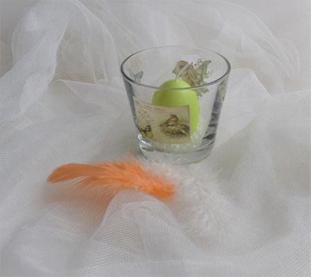 Osterkerzen im Glas