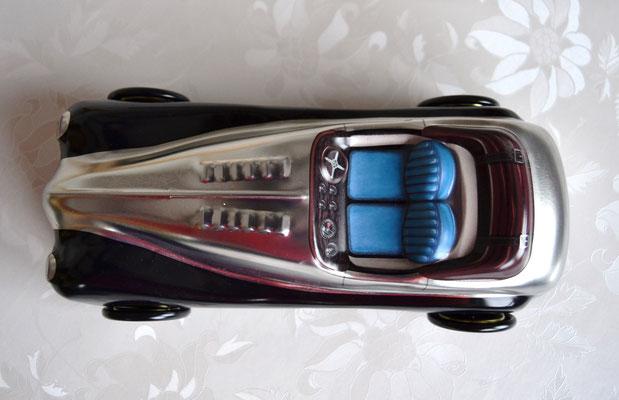 Cabriolet schwarz/silber von oben