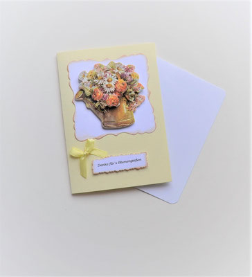 """Glückwunschkarte """"Danke für´s Blumengießen"""""""