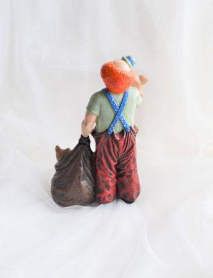 Clown mit Bären aus Keramik