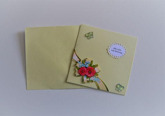 """""""Alles Liebe zum Muttertag"""" gelb-bunt"""