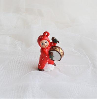 Schneebaby rot mit Trommel