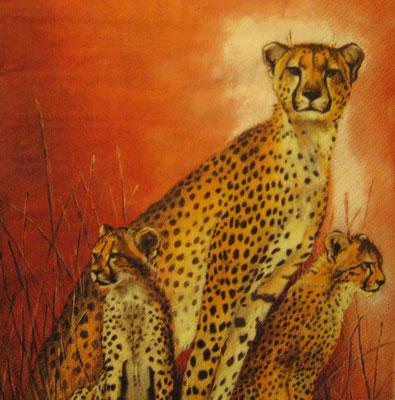 Serviette mit Leopard