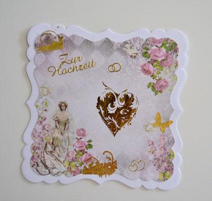 Hochzeitskarte pastell-gold