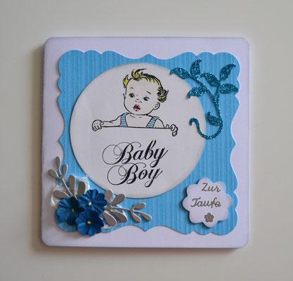 Glückwunschkarte zur Taufe für Junge