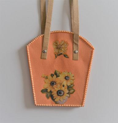 Pflanzen-Tasche groß lachs