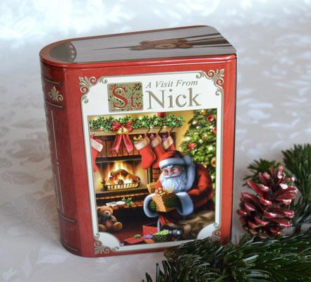 Buchdose Weihnachten groß rot