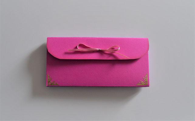 """Geschenkschachtel """"ohne Text"""" pink-creme"""