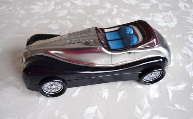 Cabriolet schwarz/silber seitlich