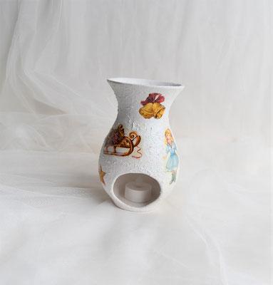 Keramikvase als Teelicht