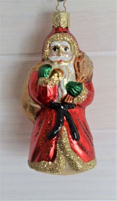 Christbaumhänger Nikolaus bunt aus Glas