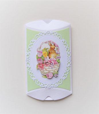 Pillowbox Ostern weiß-hellgrün