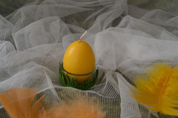 Eierkerze mit Glashalter