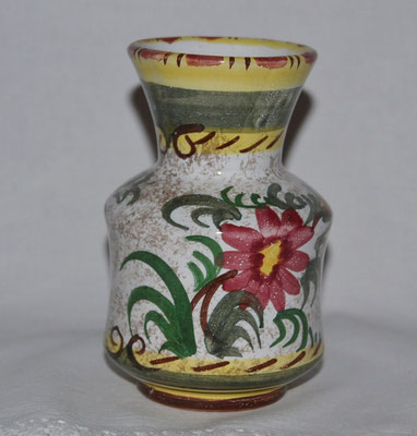 Mediterrane Vase mit buntem Rand