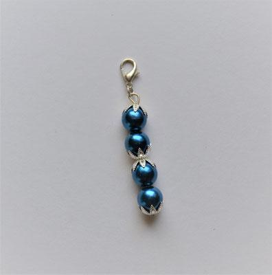 Perlenanhänger blau
