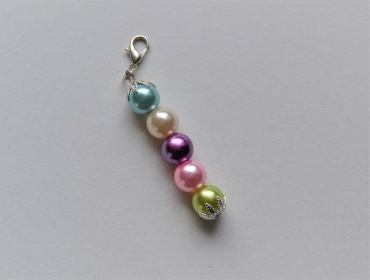 Perlenanhänger/Schlüsselanhänger/Taschenanhänger 5 Farben