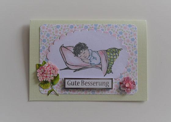"""""""Gute Besserung"""" in hellgrün-bunt"""