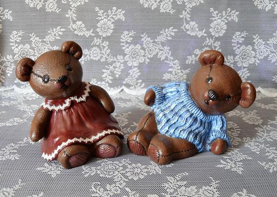 Bärenpaar aus Keramik