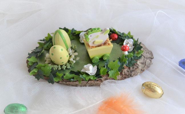 Tischdeko mit Baumscheibe